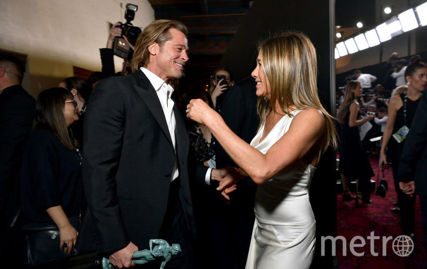 Брэд Питт и Дженнифер Энистон на SAG Awards-2020. Фото Getty