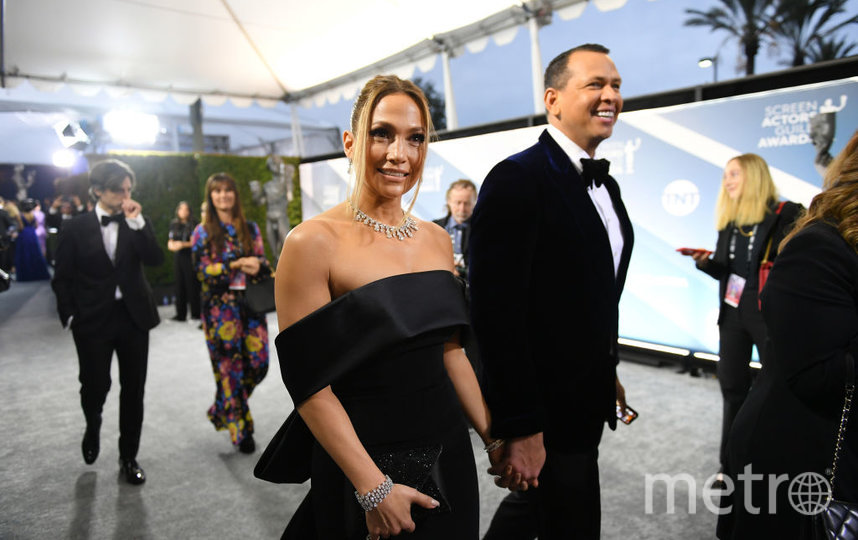 SAG Awards-2020. Дженнифер Лопес и Алекс Родригес. Фото Getty