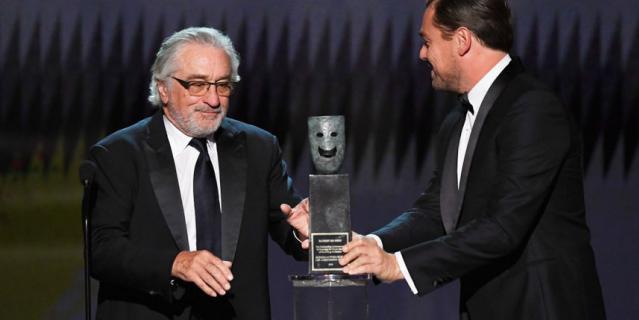 Роберт Де Ниро и Леонардо Ди Каприо.