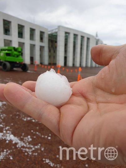 На юго-восток Австралии обрушился сильный град размером с мяч для гольфа. Фото AFP