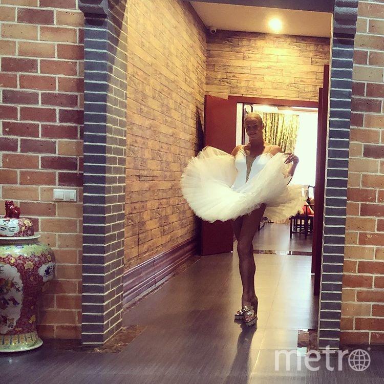 В пачке балерина позирует редко. Фото instagram.com/volochkova_art