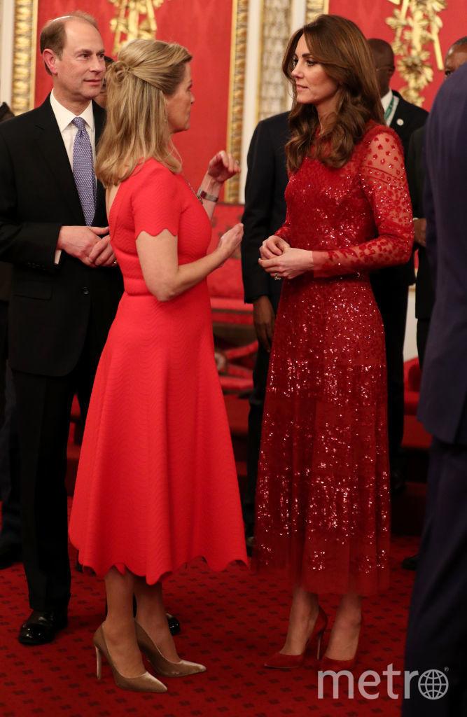 Дипломатический прием в Букингемском дворце. Кейт с Софи. Фото Getty