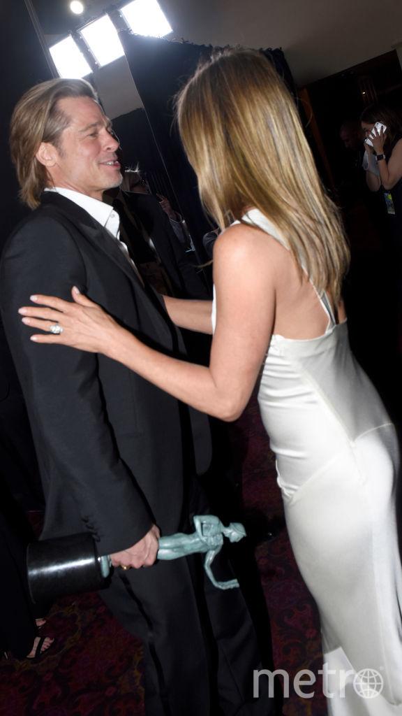 Дженнифер Энистон и Брэд Питт во время той незабываемой ночи. Фото Getty