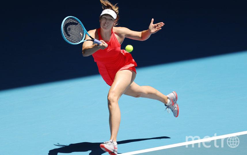 Мария Шарапова во время матча первого круга на Открытом чемпионате Австралии. Фото Getty