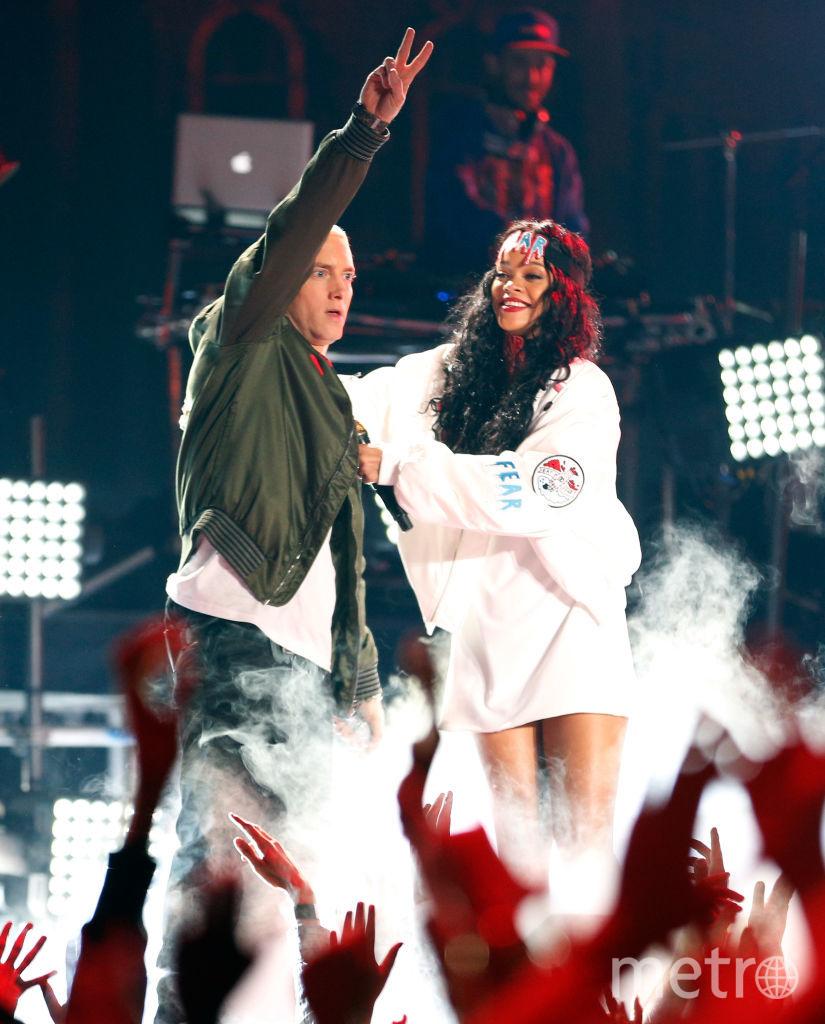 Американский рэп-исполнитель Eminem и певица Рианна. Фото Getty