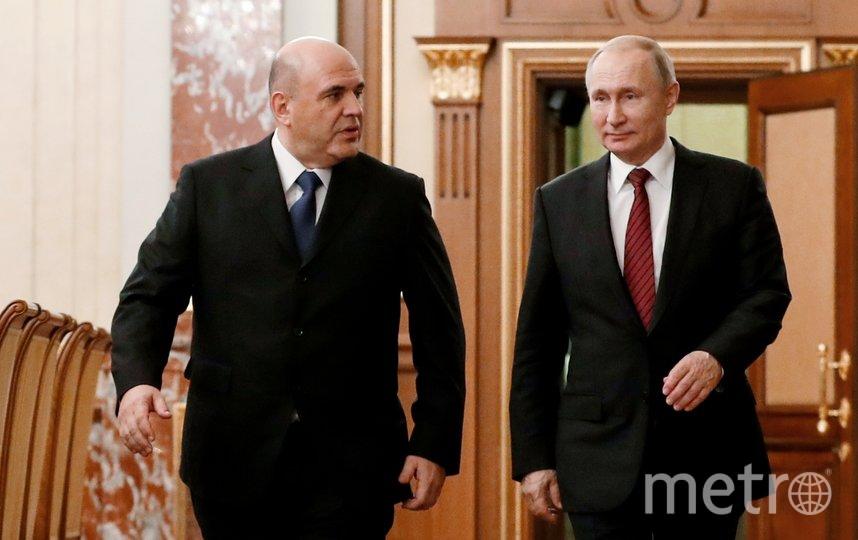 Владимир Путин и новый премьер Михаил Мишустин. Фото AFP