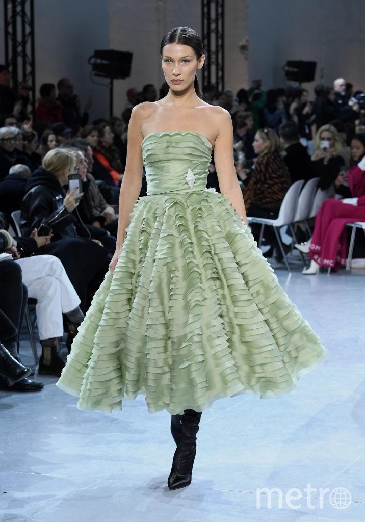 Показ Alexandre Vauthier на Неделе высокой моды в Париже. Белла Хадид. Фото Getty