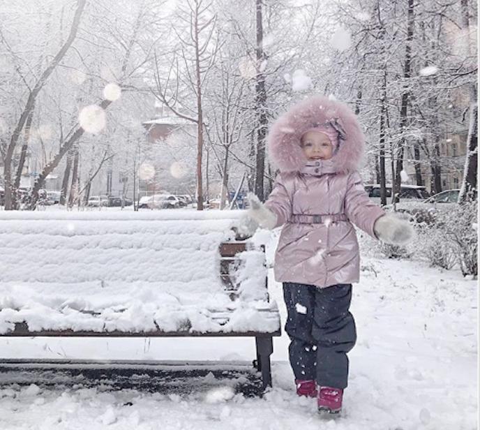 Снегопад в Москве. Фото скриншот instagram.com/tatianalofio/