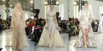 Летящие юбки и кружевные шлейфы: показ Elie Saab восхитил гостей Недели высокой моды
