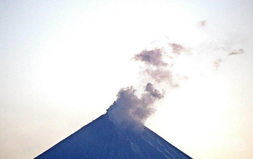 Активизировался вулкан Ключевский. Фото https://t.me/rt_russian