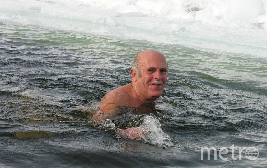 """Сейчас 82-летний морж Ратушный плавает в любую погоду. Фото предоставлено Борисом Ратушным, """"Metro"""""""