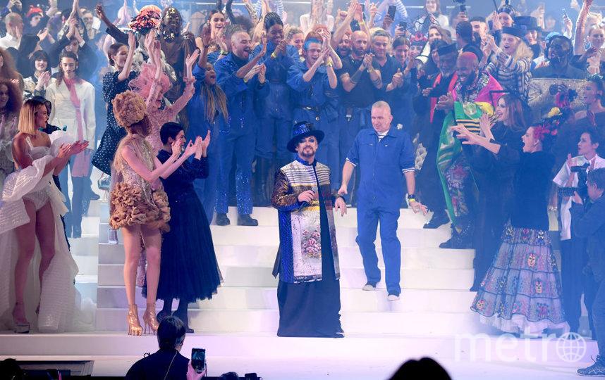 Шоу Готье в Париже. Бой Джордж и Жан-Поль Готье. Фото Getty