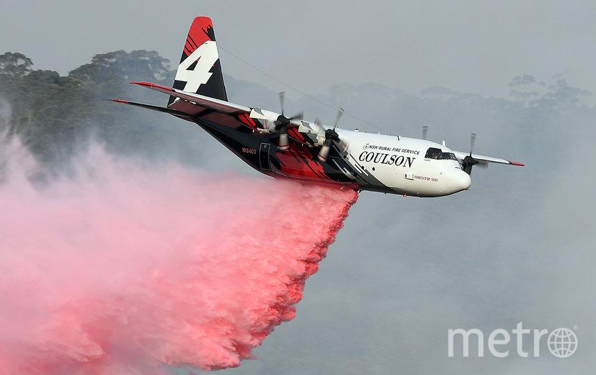Пожарный самолёт C-130 Hercules. Фото сделано ранее в январе. Фото AFP