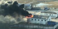 Появилось видео серьёзного пожара в Авиагородке в Петербурге