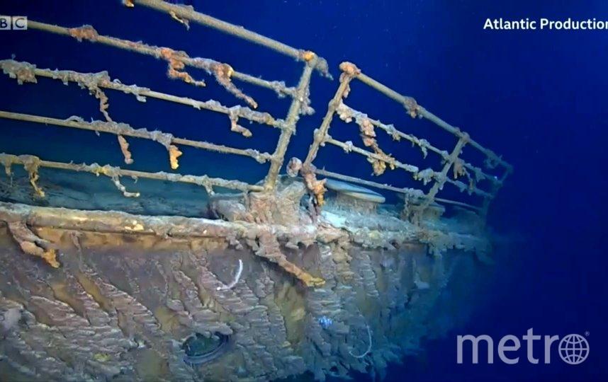 Кадры затонувшего Титаника сейчас. Фото продюсерская компания Atlantic Productions
