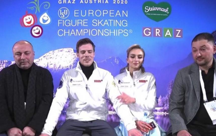 Синицина и Кацалапов уступили пять сотых балла и стали вторыми. Фото Скриншот @sinitsina_katsalapov