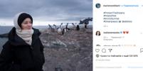 Марион Котийяр вместе с организацией Greenpeace посетила Антарктиду