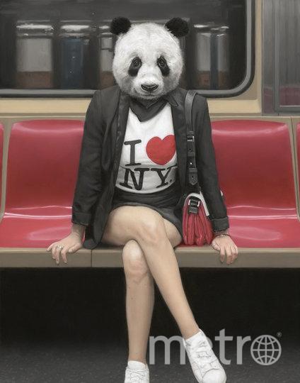 """Американский художник показывает """"дикую"""" сторону метро Нью-Йорка. Фото Мэтью Грабельски."""
