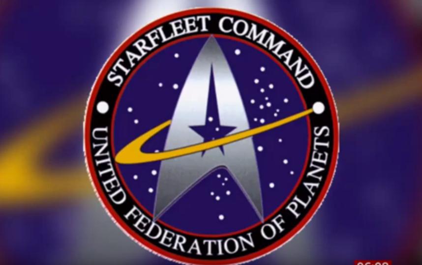 Логотип космических сил США сравнили с эмблемой из сериала Star Trek. Фото скриншот https://www.youtube.com/watch?v=A12Hi3Hajdk, Скриншот Youtube