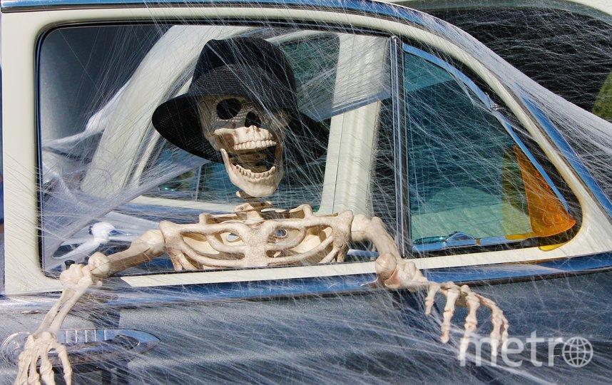 В США задержали 62-летнего мужчину, в машине которого обнаружили фальшивый скелет. Фото pixabay.com