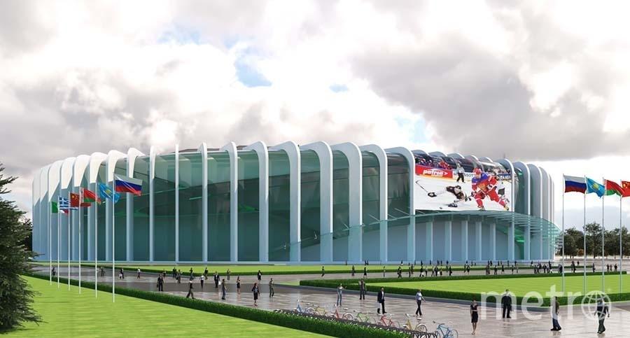 Так будет выглядеть новая ледовая арена на меcте СКК. Фото «ГорКапСтрой»