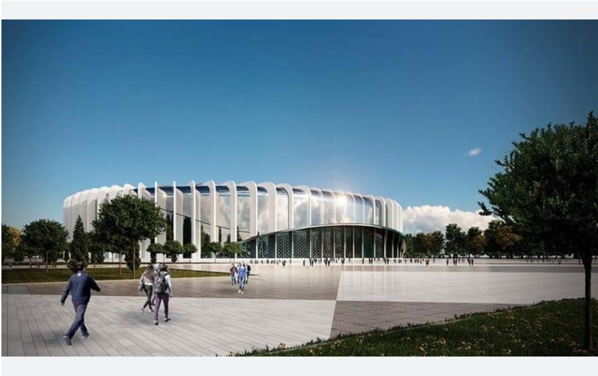 Так будет выглядеть новая ледовая арена СКК. Фото «ГорКапСтрой»