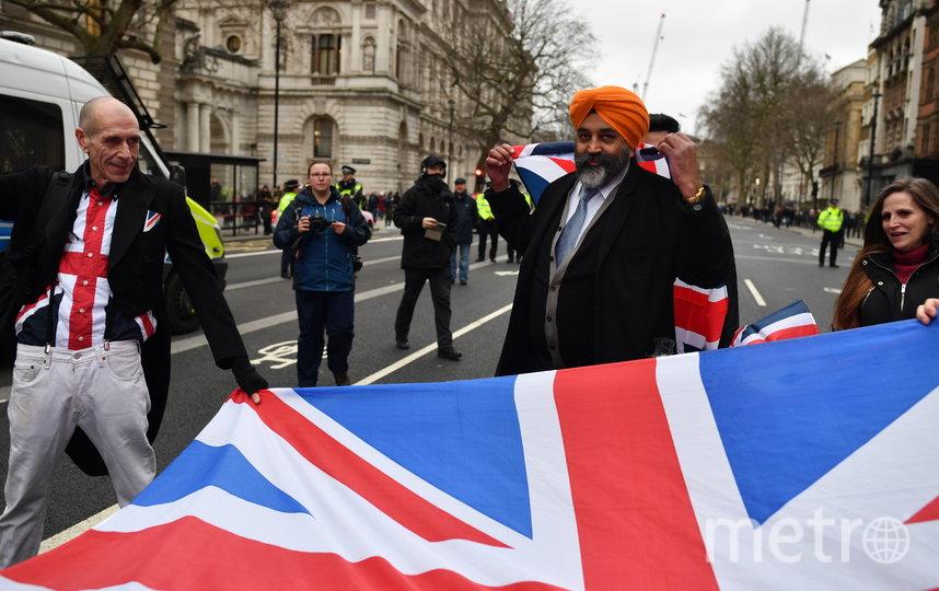 """Британцы зажигательно отметили """"Брексит"""": Как это было. Фото Getty"""