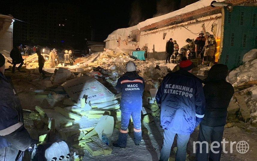 Площадь обрушения составила 240 метров. Фото https://54.mchs.gov.ru/
