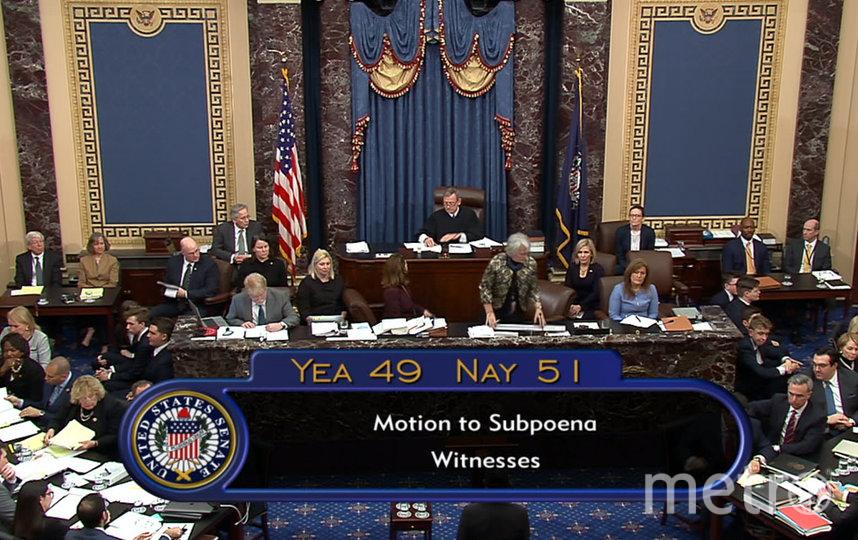 Ранее сенаторы проголосовали против вызова новых свидетелей. Фото AFP
