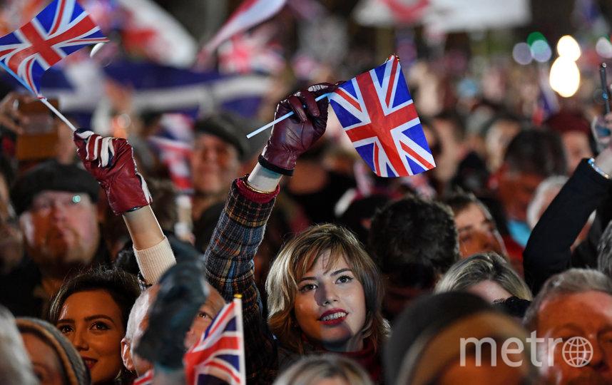 Многие люди в Великобритании встретили Брексит ликованием. Фото AFP