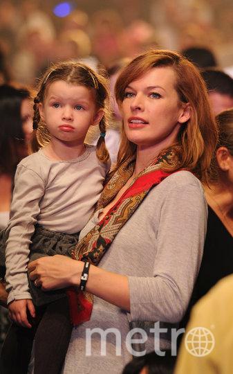 Милла Йовович с дочерью Эвер. Фото Getty