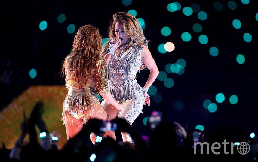 Шакира и Дженнифер Лопес на Супербоуле-2020. Фото AFP