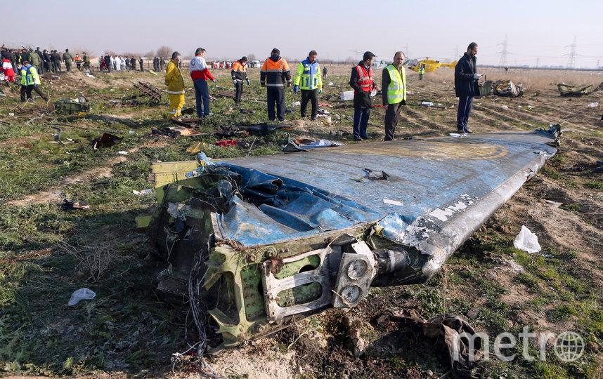 Пассажирский самолёт украинских авиалиний был сбит 8 января. Фото AFP