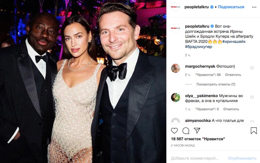 Ирина Шейк и Брэдли Купер. Фото Скриншот Instagram: @peopletalkru