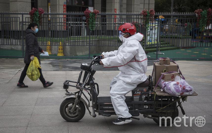 Так выглядит доставка еды в китайских городах. Фото Getty