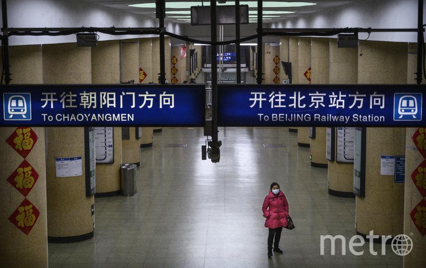 Общественный транспорт в Китае обезлюдел. Фото Getty