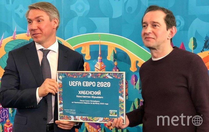 Хабенский стал послом Чемпионата Европы по футболу в Петербурге. Фото Скриншот @euro2020spb