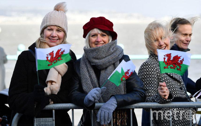 Жители Уэльса встречают Кэтрин и Уильяма. Фото Getty