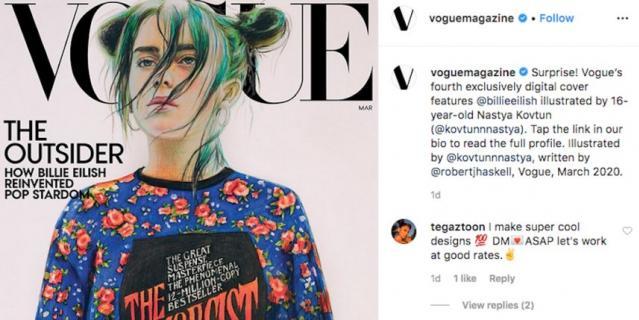 Билли Айлиш появится на обложке мартовского выпуска Vogue.