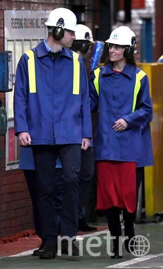 Принц Уильям и Кейт Миддлтон посетили крупный центр черной металлургии Уэльса. Фото Getty