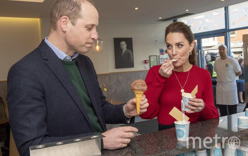Кэтрин и Уильям были в приподнятом настроении в кафе. Фото Getty