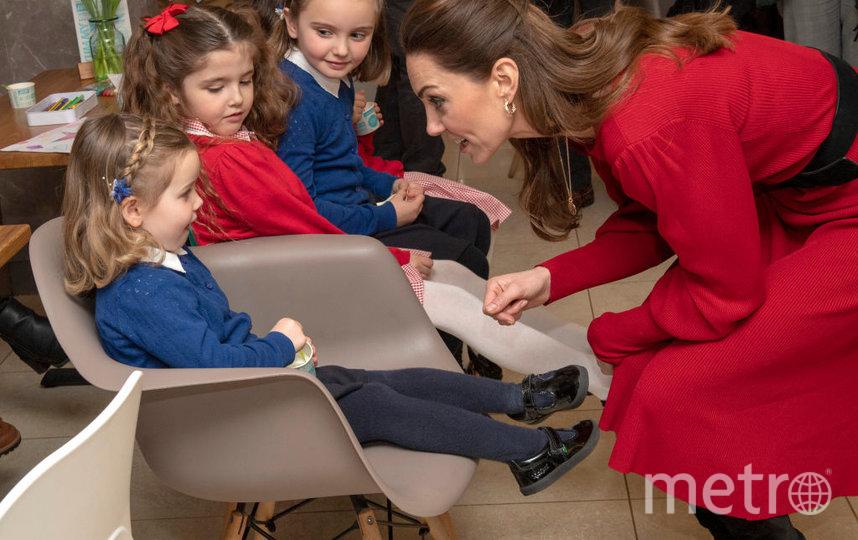Кэтрин легко удавалось разговорить детей. Фото Getty