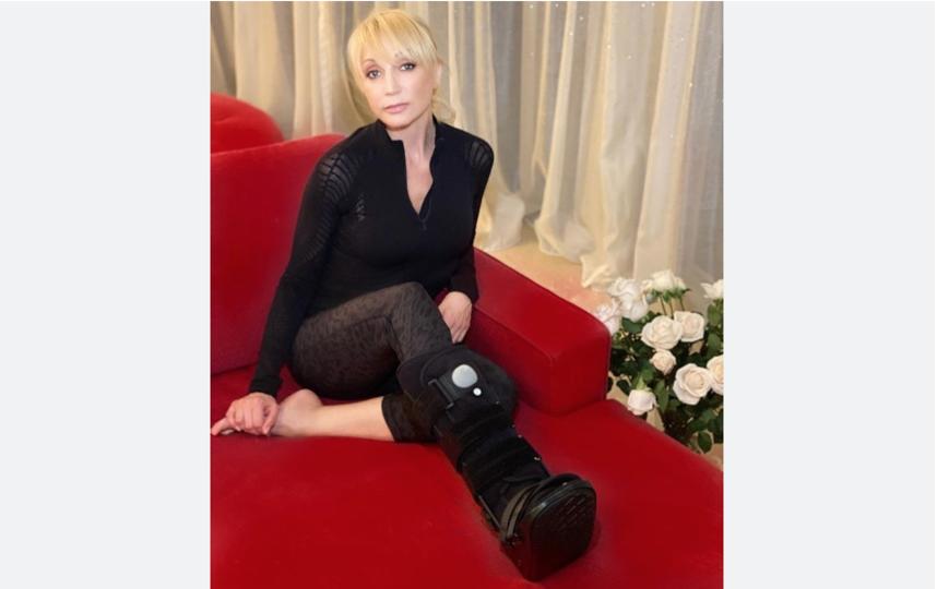 В конце января певица рассказала о травме. Фото instagram.com/orbakaite_k
