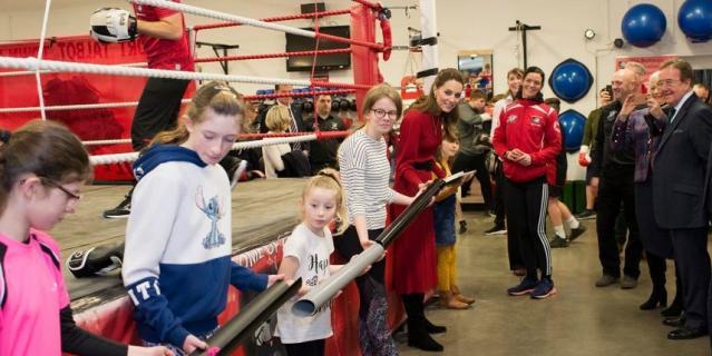В боксерском клубе в Южном Уэльсе.