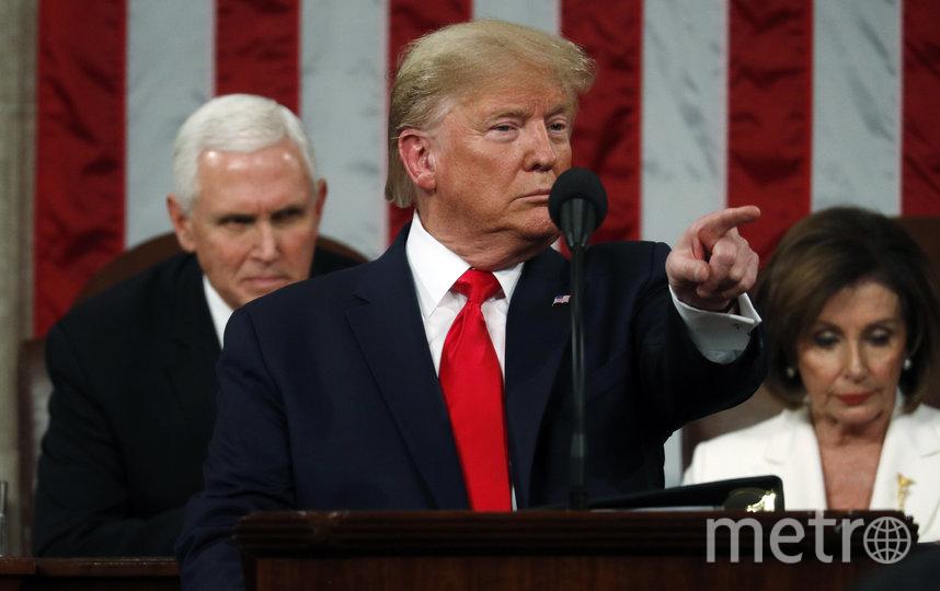 """Дональд Трамп выступил уже с третьим в своей карьере обращением """"О положении дел в стране"""". Фото AFP"""