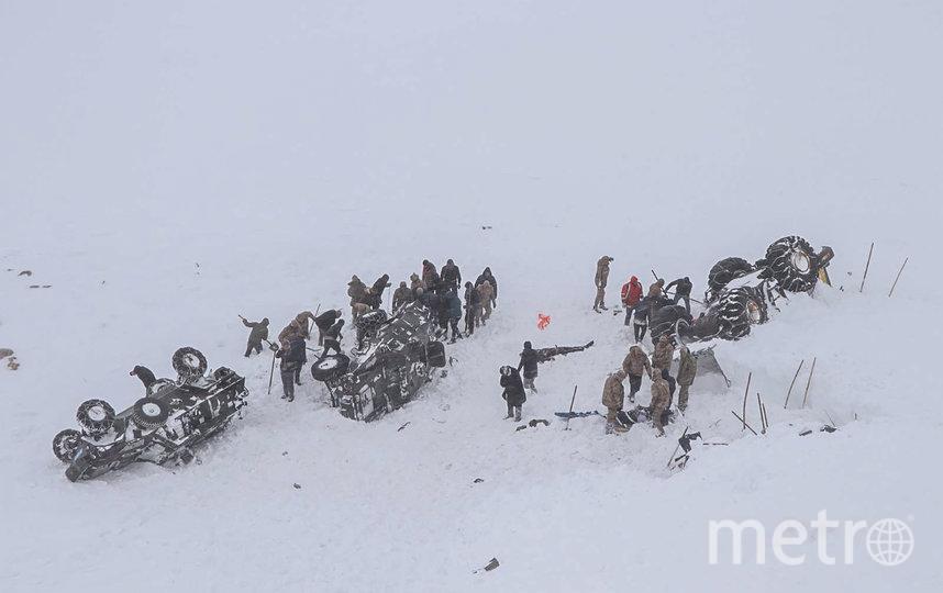 В турецкой провинции Ван на юго-востоке страны сошли две снежные лавины. Фото AFP