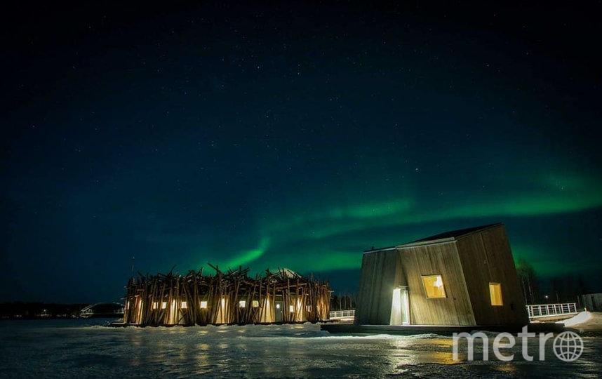 В Швеции открылся плавучий спа-отель. Фото ARCTIC BATH