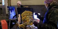 200 художников одновременно рисовали заснеженный Невский проспект: фото