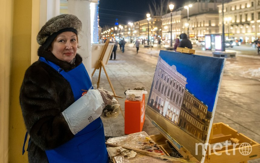 """Тамара Коновалова надела на себя самое теплое, что у нее было – норковую шубу. Фото Алена Бобрович, """"Metro"""""""