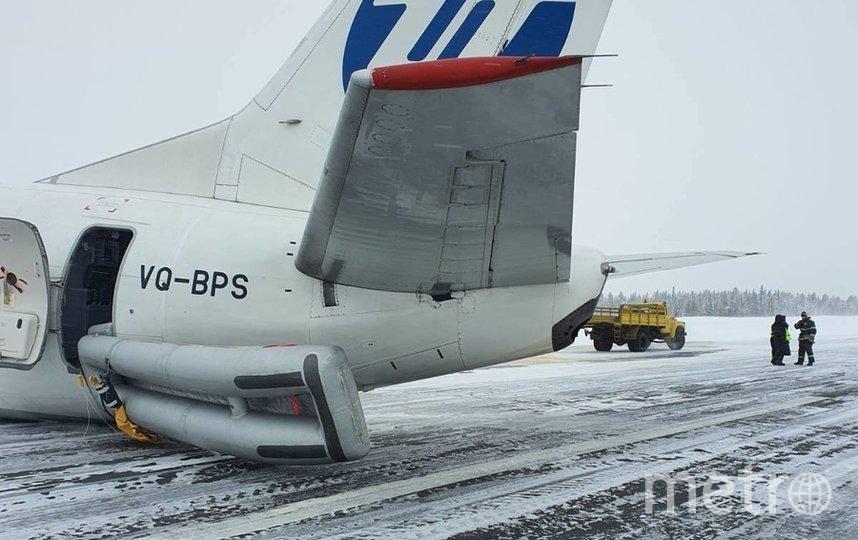 Пассажирский Boeing совершил жесткую посадку в аэропорту Усинска в Республике Коми. Фото пресс-служба МЧС России Главное управление по Республике Коми
